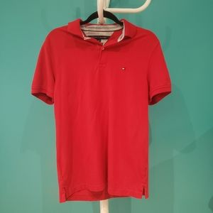 Tommy Hilfiger Red Cotton Polo Shirt